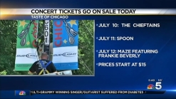 Concert Tickets for the Taste of Chicago on Sale