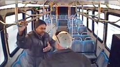 Raw Video: Bus Driver Punches Passenger