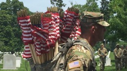 'Flags In' Ceremony Held at Arlington National Cemetery