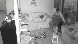 Burglar Sneaks Past Sleeping Kids<br />