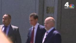 Raw Footage: Weiner Leaves Court After Sexting Guilty Plea