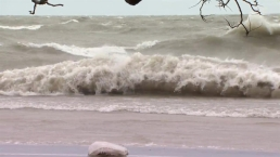 High Waves Hit Chicago's Lakefront