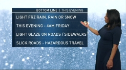 Freezing Rain Possible for Morning Commute