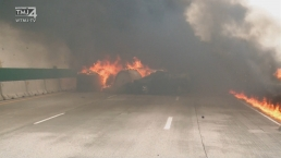 Raw Video Shows Fiery Scene After Interstate 94 Crash