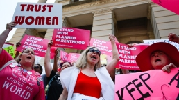 Abortion Rights Advocates Protest to 'Stop the Bans'