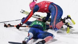 US Wins First-Ever Gold Medal in Cross-Country Skiing