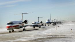 Plane Slides Off Runway at O'Hare Airport
