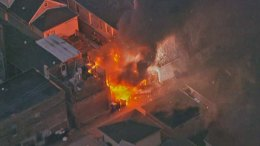 Crews Battle Big Garage Fire in Bridgeport