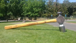 $1,000 Reward to Nail Thieves of Giant Hammer Sculpture