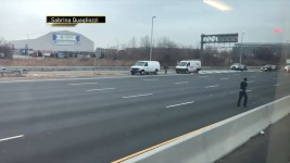 Money Rains Onto New Jersey Highway From Armored Truck