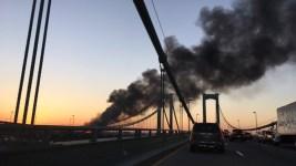 'Weed World Candies' Truck Catches Fire on Bridge