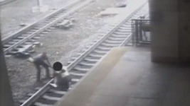 NJ Transit Officer Pulls Man Off Tracks Seconds Before Train Arrives
