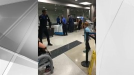 Young Traveler Challenges TSA Officer to Dance-Off at NJ Airport