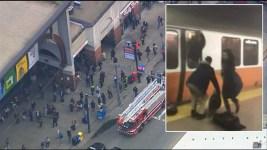 In Smoky Station, Train Passengers Escape Through Windows