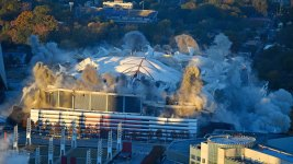 Georgia Dome Is Imploded in Downtown Atlanta