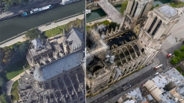 Images: Notre Dame Before, During & After Catastrophic Fire