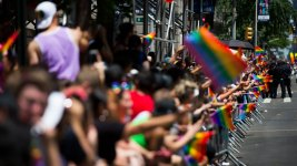 Gay Pride Parades Sound a Note of Resistance — and Face Some