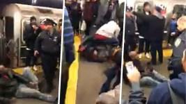 NY Subway Riders Beat Man After Mom Attacked on Platform: Police