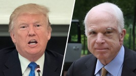Trump Warns 'I Fight Back' After McCain Hits Foreign Policy