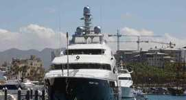 Megayacht Docks in San Francisco Bay