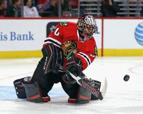 Video: Corey Crawford Throws Down With Robby Fabbri