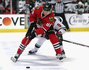 Kane Notches 100th Career Playoff Point in Win
