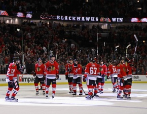 Keith's OT Power-Play Goal Lifts Blackhawks Past Red Wings
