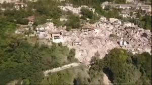 Drone Footage Shows Earthquake Damage in Italy