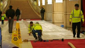 Oscars Preps: It's a Plastic Wrap for Red Carpet