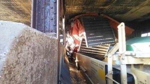 Freight Train Hits Bridge