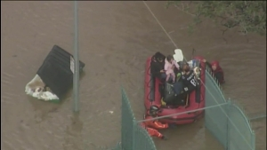 RAW: Major Flooding Overwhelms San Jose Streets Along Coyote Creek