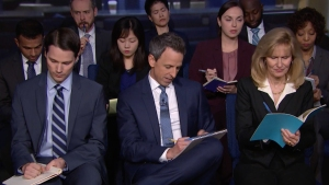 'Late Night': White House 'Press Conference' With Trump