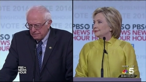 Clinton and Sanders Spar in Milwaukee