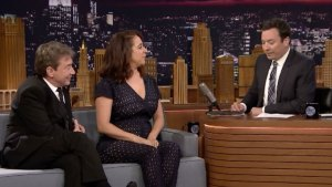 'Tonight': 'Maya & Marty' Stars Bake Fallon a Pie