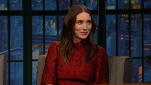 'Late Night': Rooney Mara Attended Football Games in Sunday Best