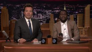 'Tonight': Kevin Hart FaceTimes Dwayne Johnson While Co-Hosting
