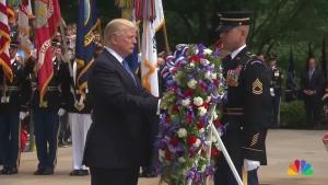 Trump Honors Military Heroes at Arlington National Cemetery