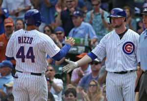 Lester and Rizzo Feel the Glove vs. Pirates