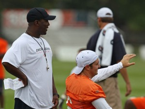 Lovie, Harris Differ on Player-Led Workouts