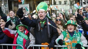 St Patrick's Day Parade Livens New York With Sound and Color