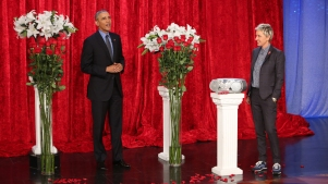 Obama Recites V-Day Poem to First Lady on 'Ellen'