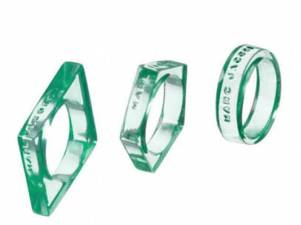 Geo Plastic Ring Set