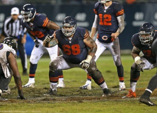 Slauson, Garza Both Suffer Ankle Injuries in Bears' Loss