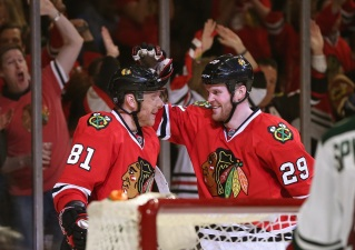 Bickell's Big Game Helps Hawks to Big Win
