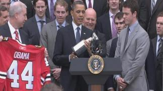 Obama Honors the Blackhawks
