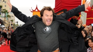 "Jack Black Hits the Red Carpet for ""Kung Fu Panda 2"""