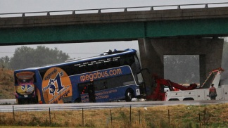 Dramatic Photos: Megabus Crash