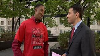 Scottie Pippen Gets Playoffs Fever