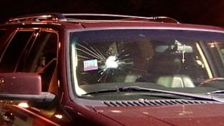 Rocks Thrown on Vehicles on Skyway