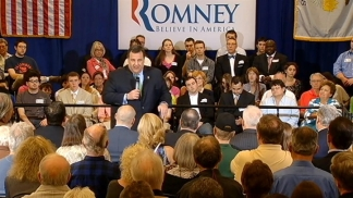 NJ Gov. Stumps for Romney in Illinois